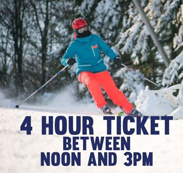 Picture of 4 Hour Afternoon Lift Ticket (Must Start Between Noon and 3pm)